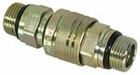 Coupler Complete, Male - Female,  3/4-16 Valve Block Side, P/N 1304027
