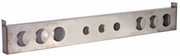 """D.O.T. 7-Hole (Round) Cabinet, 8""""x3""""x44"""" Stainless Steel, Buyers LB8443SST"""