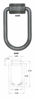 "D Ring, Forged, I.D. (HxW): 4-1/2"" x 2-1/2"", Weld On, Buyers B39W"