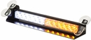 Dashboard LED Lightbar, Multi-Mounting, Amber/Clear, Buyers 8891025
