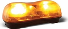 Dual Halogen Mini Lightbar, Amber, Magnetic, Buyers 8891020