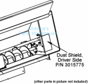 Dust Shield, Drivers Side, DumperDogg P/N 3015775