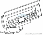 Dust Shield, Passenger Side, DumperDogg P/N 3015774
