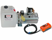 Electric 3-Way Release Valve D.C. Hydraulic Power Unit w/1.87 Gallon Poly Reservoir, Buyers PU319LR