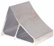 "Extruded Aluminum Wheel Chock, 7"" x 11"" x 8"", Buyers WC7118A"