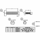 Fastener Kit, Shock Absorber Option, Boss P/N HDW05609