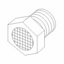 "Fitting, Breather Vent,1/4"" MP, Boss P/N HYD07078"
