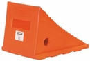 "Flourescent Orange Poly Wheel Chock, 8.69"" W x 11.25""L x 8.13""H, Buyers WC8118"
