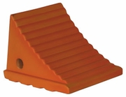 "Fluorescent Orange Poly Wheel Chock, 7.38"" W x 8.31""L x 6.25""H, Buyers WC786"