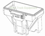 Hopper, Poly TGS07 Salt Spreader, P/N 3015379