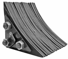 """Laminated Rubber Wheel Chock, 8.75""""W x 8""""D x 8""""H, Buyers WC0888"""