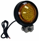 "LED Amber Utility Light, 5"", 375 Lumens, 12-24 vdc, Buyers 1492111"