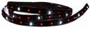 "LED Light Strip, 60"" Long, 40 Red & 20 Clear, Buyers 5626060"