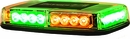 LED Mini Lightbar, 24 Amber/Green LEDs, Buyers 8891049