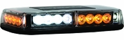 LED Mini Lightbar, Amber/Clear LED's Magnetic & Permanent Mount, Buyers 8891042
