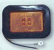 "LED Rectangular Marker Light, Amber, 3-1/8"", Buyers 5623122"