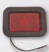 "LED Rectangular Marker Light, Red, 3-1/8"", Buyers 5623112"