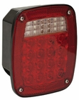 "LED Stop Turn Tail & License, 38 LED's 5-3/4"" Box Style Buyers  5626738"