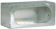 "Light Box, Smooth Aluminum, Single, Oval 6-1/2"" Lights, Buyers LB383ALSM"