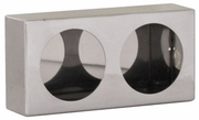 """Light Box, Stainless Steel, Dual Round 4"""" Lights, Buyers LB6123SST"""