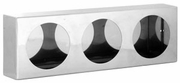 "Light Box, Stainless Steel, Triple Round 4"" Lights, Buyers LB6183SST"