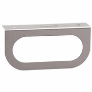 "Light Bracket, Stainless Steel, Single Oval 6-1/2"" Lights, Buyers LB1SS"