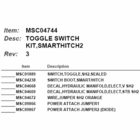 Light Toggle Switch Kit, Smart Hitch II  Boss P/N MSC04744