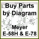 Meyer E-58H & E-78 Hydraulic Pump Parts Diagram