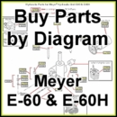 Meyer E-60 & E-60H Hydraulic Pump, Parts Diagram