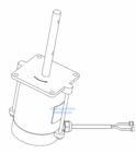 Motor (old model), Chute, for Under Tailgate Salt Spreader, P/N 3014078