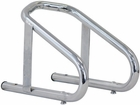 """Motorcycle Wheel Chock, Chrome, Tire Widths to 5-1/2"""", Buyers WC100609"""