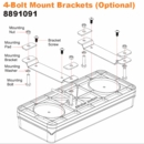 Mounting Bracket for 8891090, Buyers 8891091