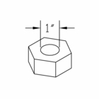 NUT,1-8,TOP L/N,GRC,YZN, Boss P/N HDW07704
