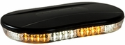 Oval Amber/Clear LED Mini Lightbar, 12-24V, Buyers 8891082