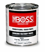 Paint, Red, Liquid Quart, Boss P/N MSC04358