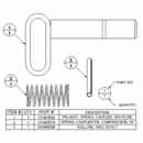 Pin, Coupler Spring, 10' Plow,  Boss P/N MSC07699