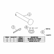 Pin Kit ,TripEdge, T-Lever Pivot, Boss TRP07876