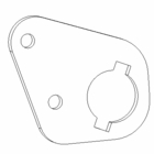 Plow Rib Bracket, Wing Extension, P/N BAX08035