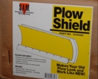 "Poly Snow Plow Shield, Yellow, 28""x96"" w/Hdw, 4x4 or ATV P/N 1310020"