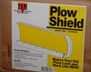 "Poly Snow Plow Shield, Yellow, 28""x96"" w/Hdw, 4x4 or ATV, Buyers SAM  1310020"