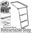 Retractable Truck Step, 2-Rung, Stainless Steel, Buyers 5232001