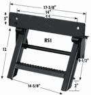 Retractable Truck Step, 2 Rungs, Buyers RS1