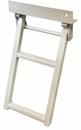 Retractable Truck Step, 2 Rungs,  Steel/White Powder Coat, Buyers RS2W