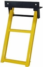 Retractable Truck Step, 2 Rungs, Steel, Yellow Powder Coat, Buyers RS2Y