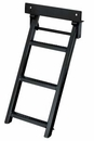 Retractable Truck Step, 3 Rungs, Steel, Black Powder Coat, Buyers RS3