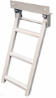 Retractable Truck Step, 3 Rungs, Steel, White Powder Coat, Buyers RS3W
