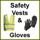 Safety Vest & Commercial Work Gloves