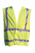 Safety Vest, Fluorescent Lime, LARGE, ANSI/ISEA Compliance, Buyers 9921005