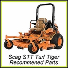 Scag STT Turf Tiger - Recommended Parts