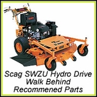 Scag SWZU Ultimate Hydro-Drive Walk Behind  - Recommended Parts
